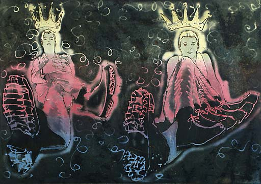 Kuninkaat/Kings, 2004, etsaus, akvatinta/etching, 53x76cm