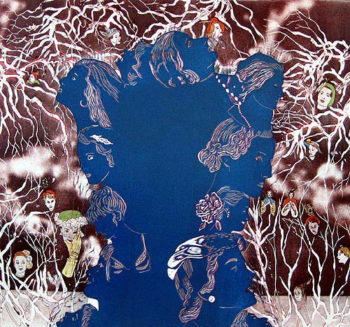 sarjasta Haaveita/From series Dreams, 2010, 60x70 cm, syvä- ja kohopaino/etching, blockprint